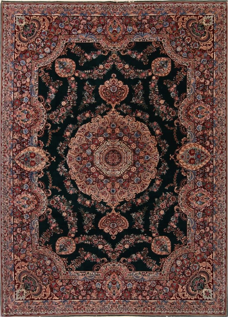 9x12 hand knotted emerald green aubusson chinese oriental area rug