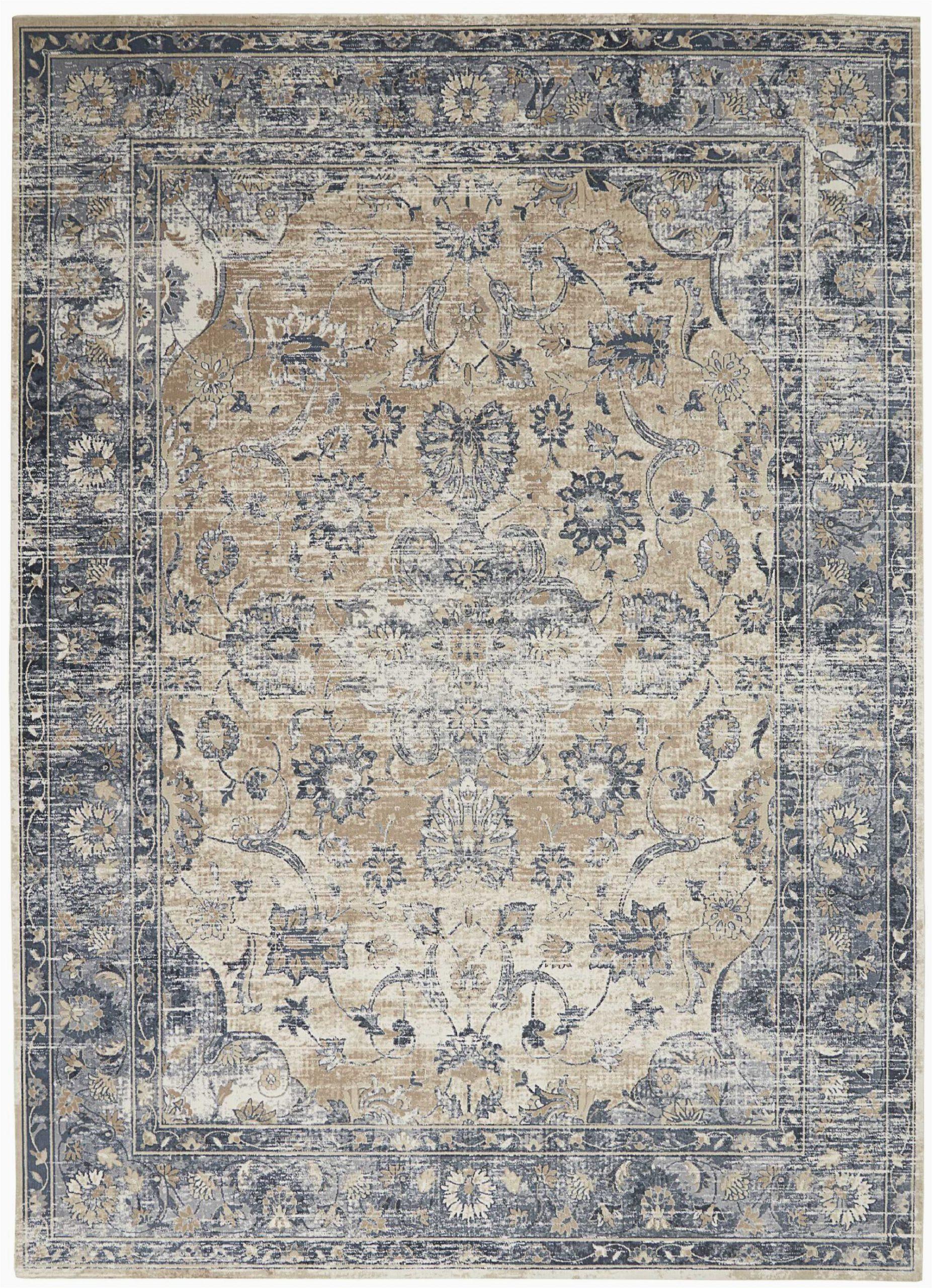 clarkedale oriental beigeblue area rug