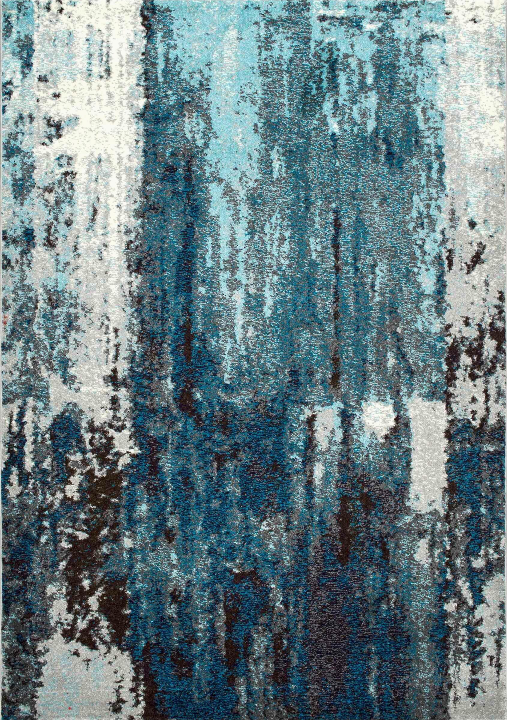 elliott abstract bluegray area rug