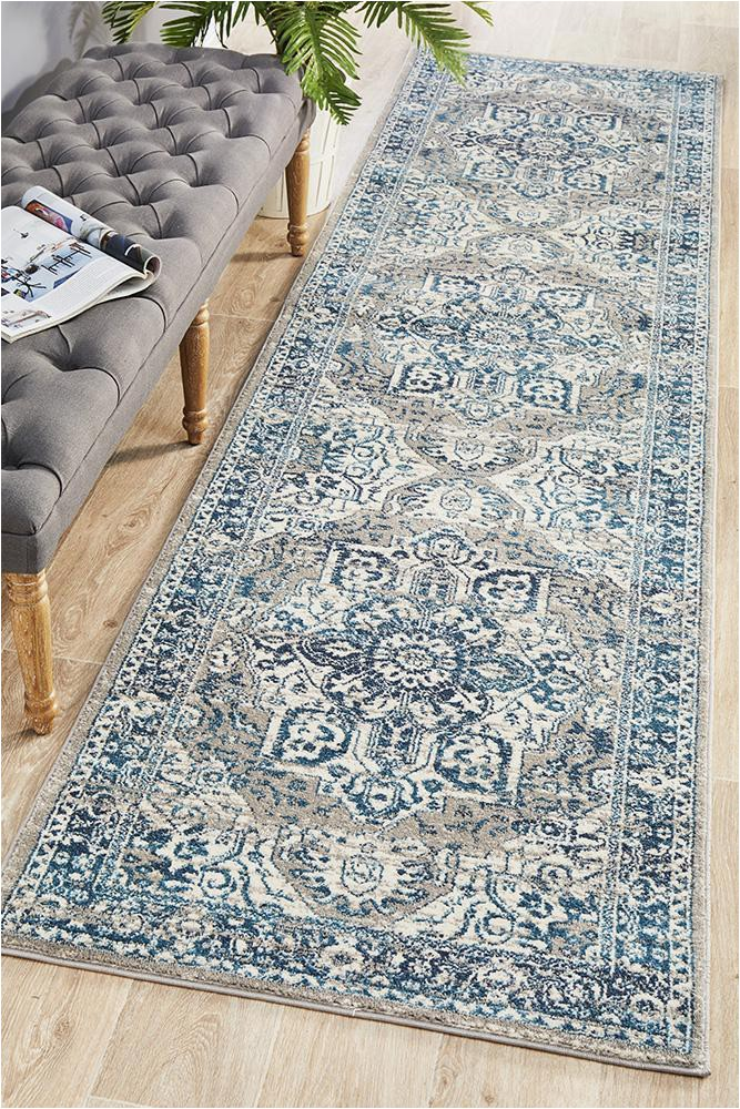 babylon 207 blue runner rug