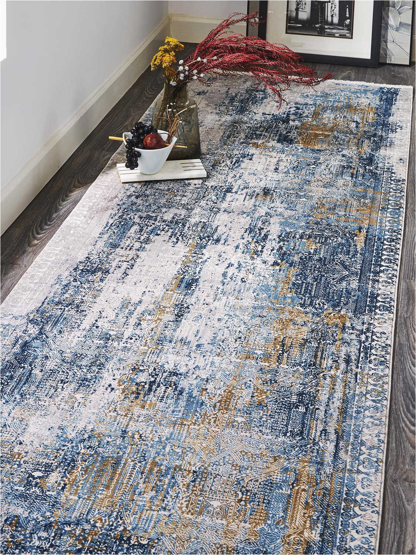 feizy cadiz runner area rug fz3890fbluegrayrun
