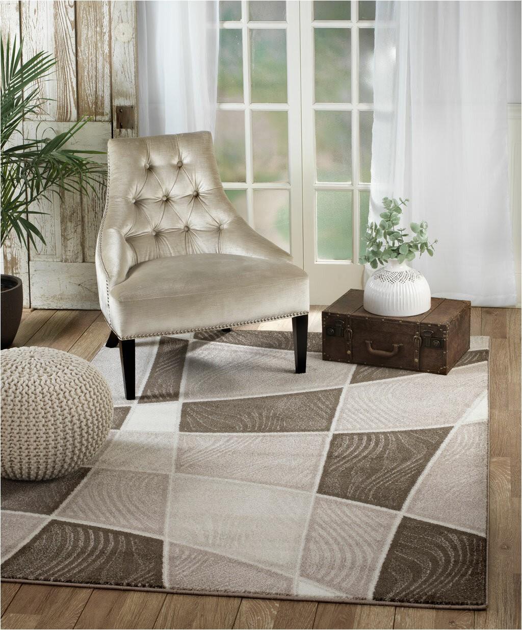 anabella geometric browtaupe area rug