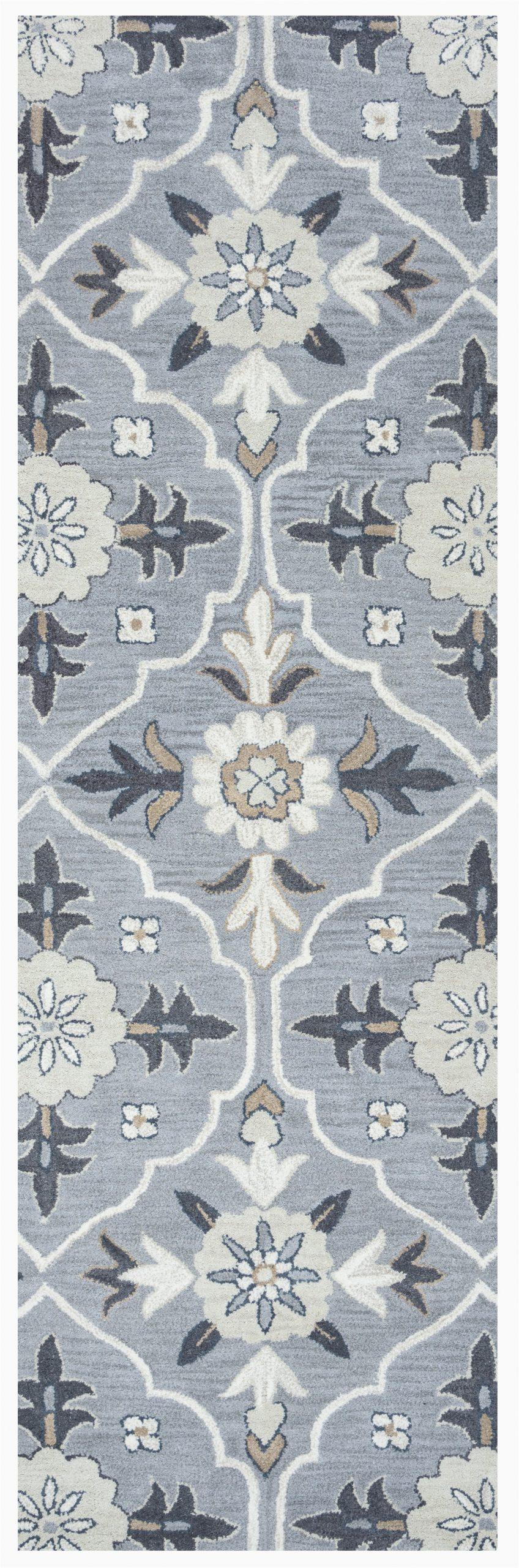 vihaan hand tufted wool blue area rug