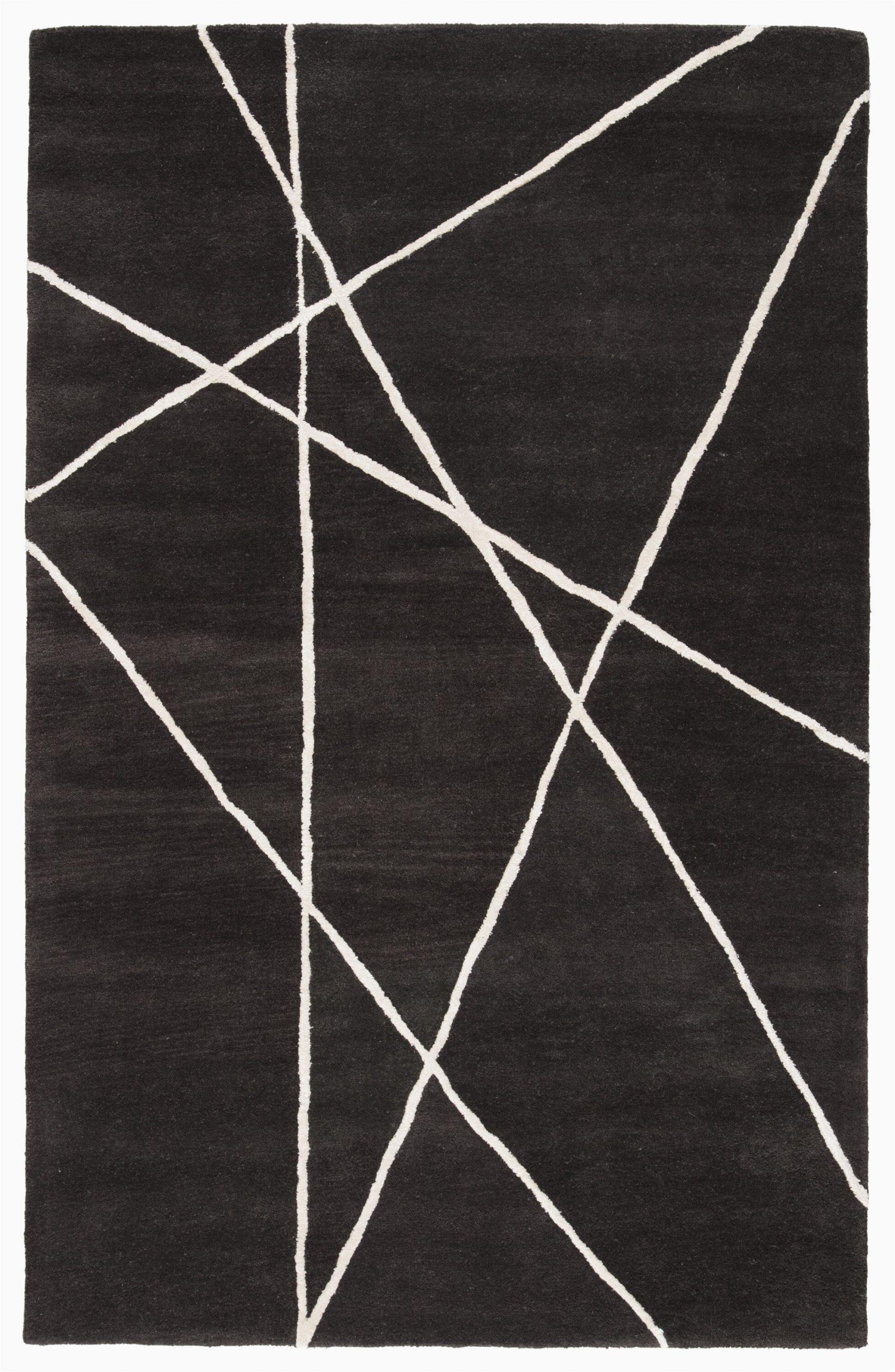ashton hand tufted blackwhite area rug