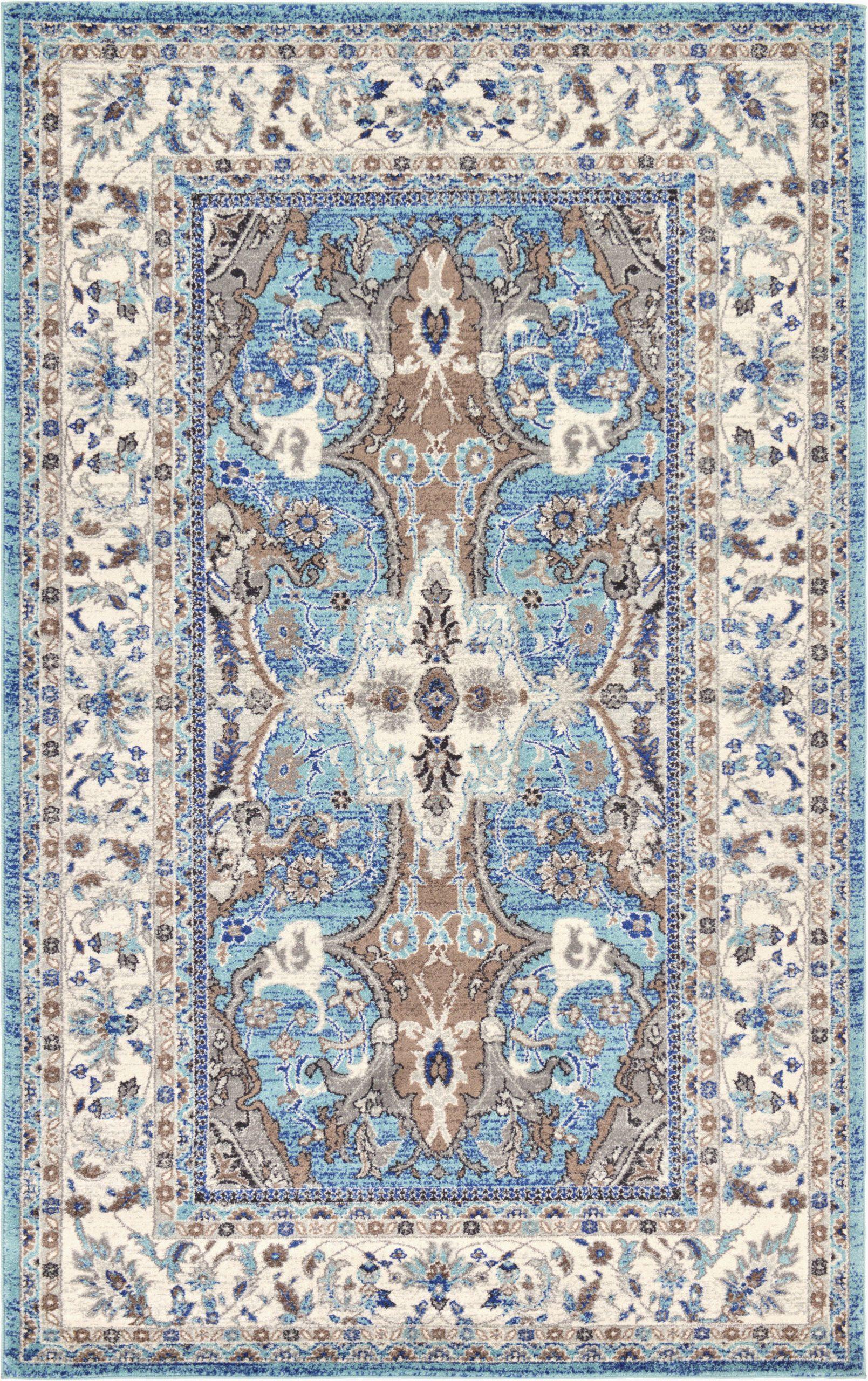 duckett oriental light bluegraytan area rug