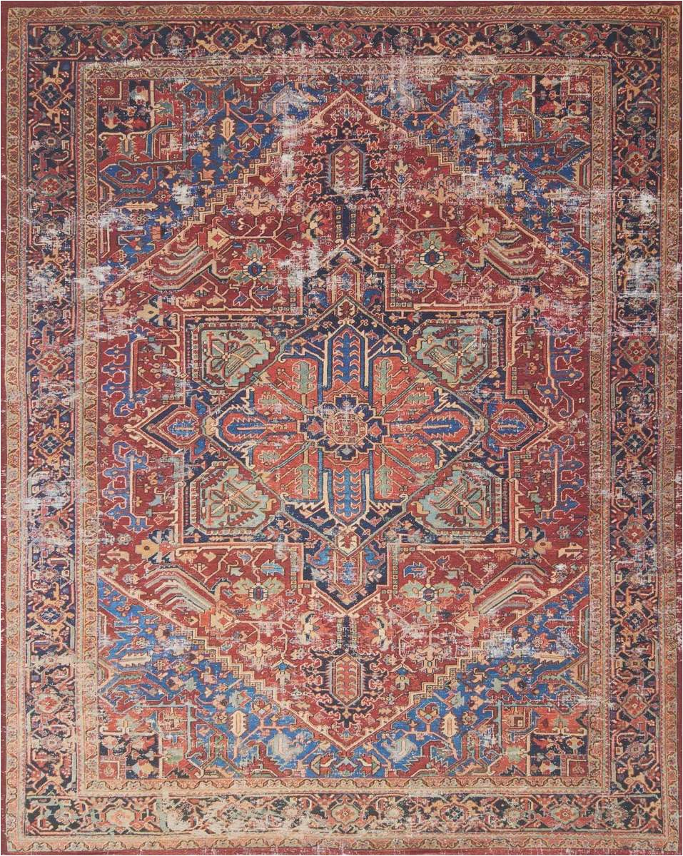 lucca by magnolia home lf 09 red blue rug