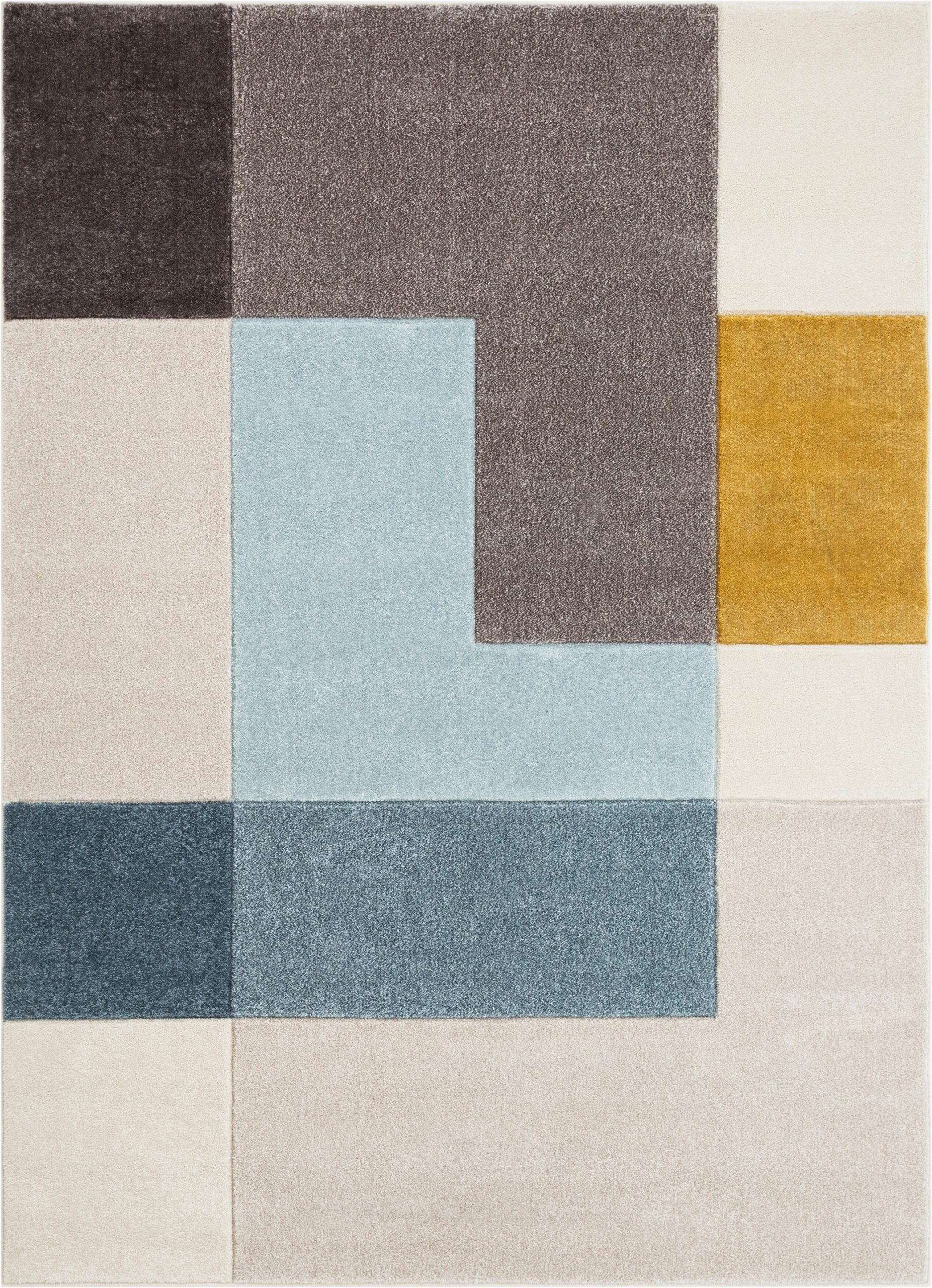 ruby constance mid century modern geometric squares graygoldmint blue area rug