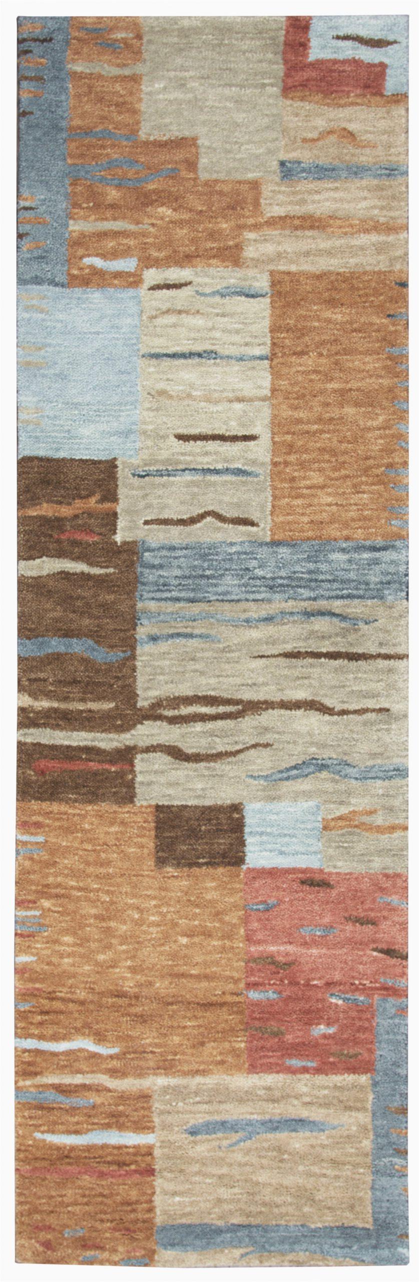 rizzy home leone lo142a multi colored block area rug