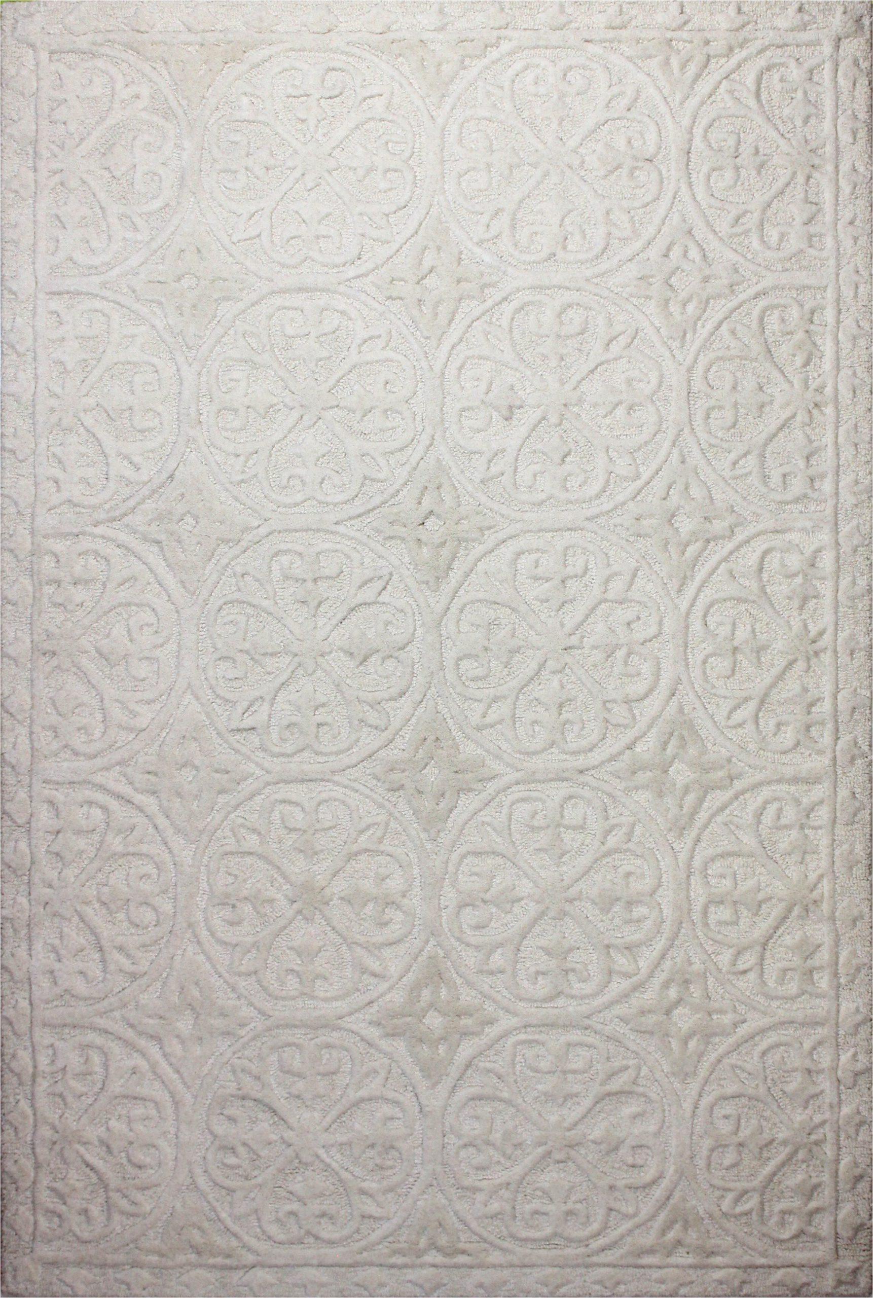 naomi hand tufted wool ivory rug