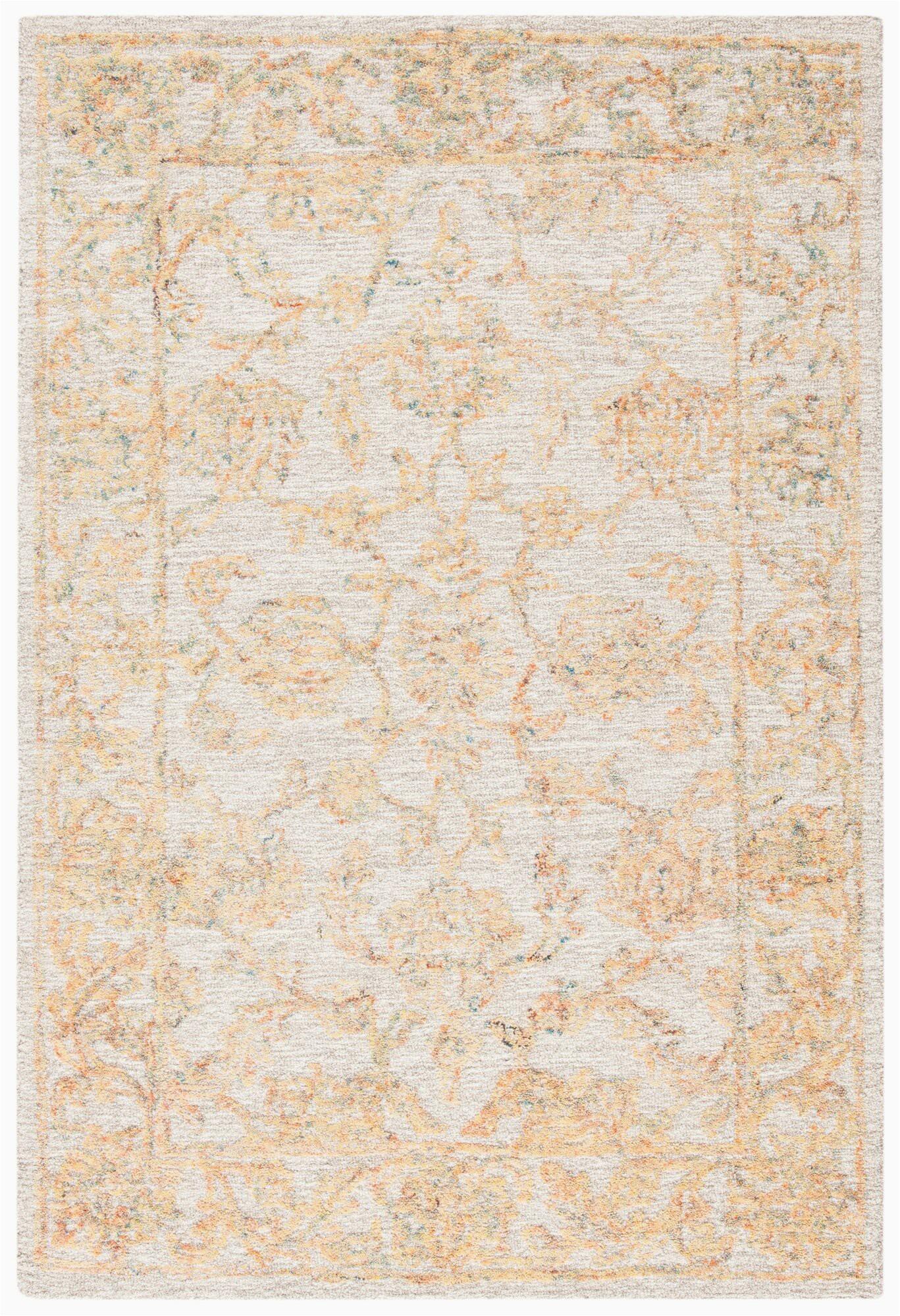 swarey oriental hand tufted wool beigegold area rug