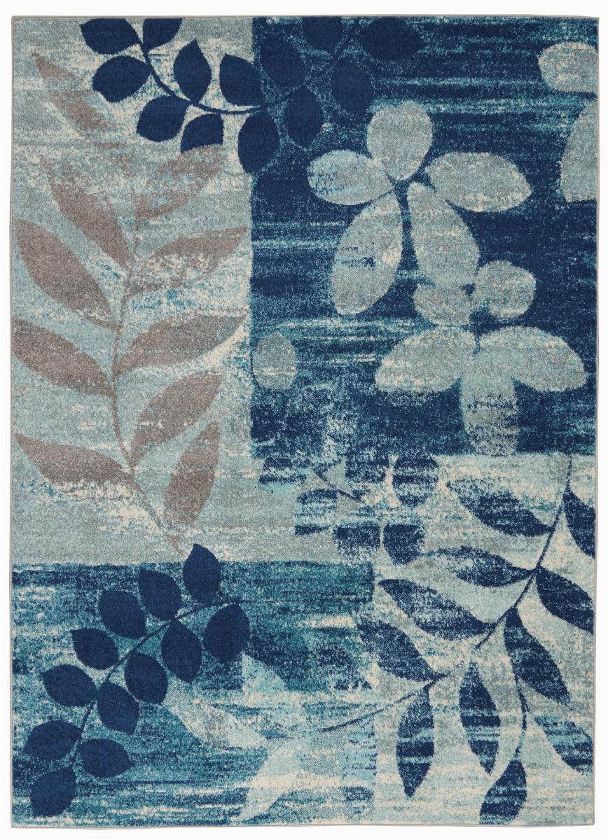 nourison tranquil tra01 navy light blue area rugx