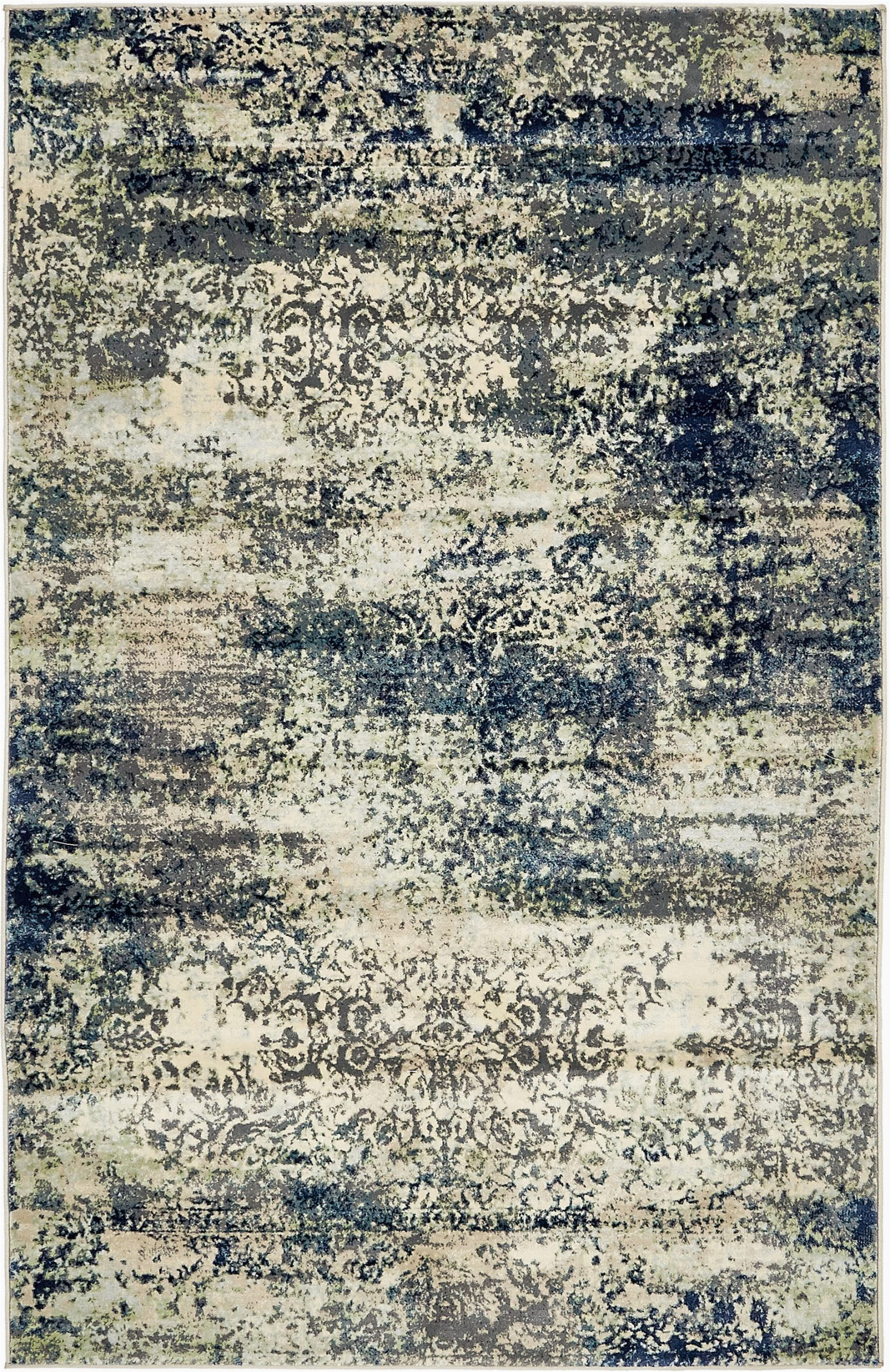 jani abstract navy bluesage beige area rug