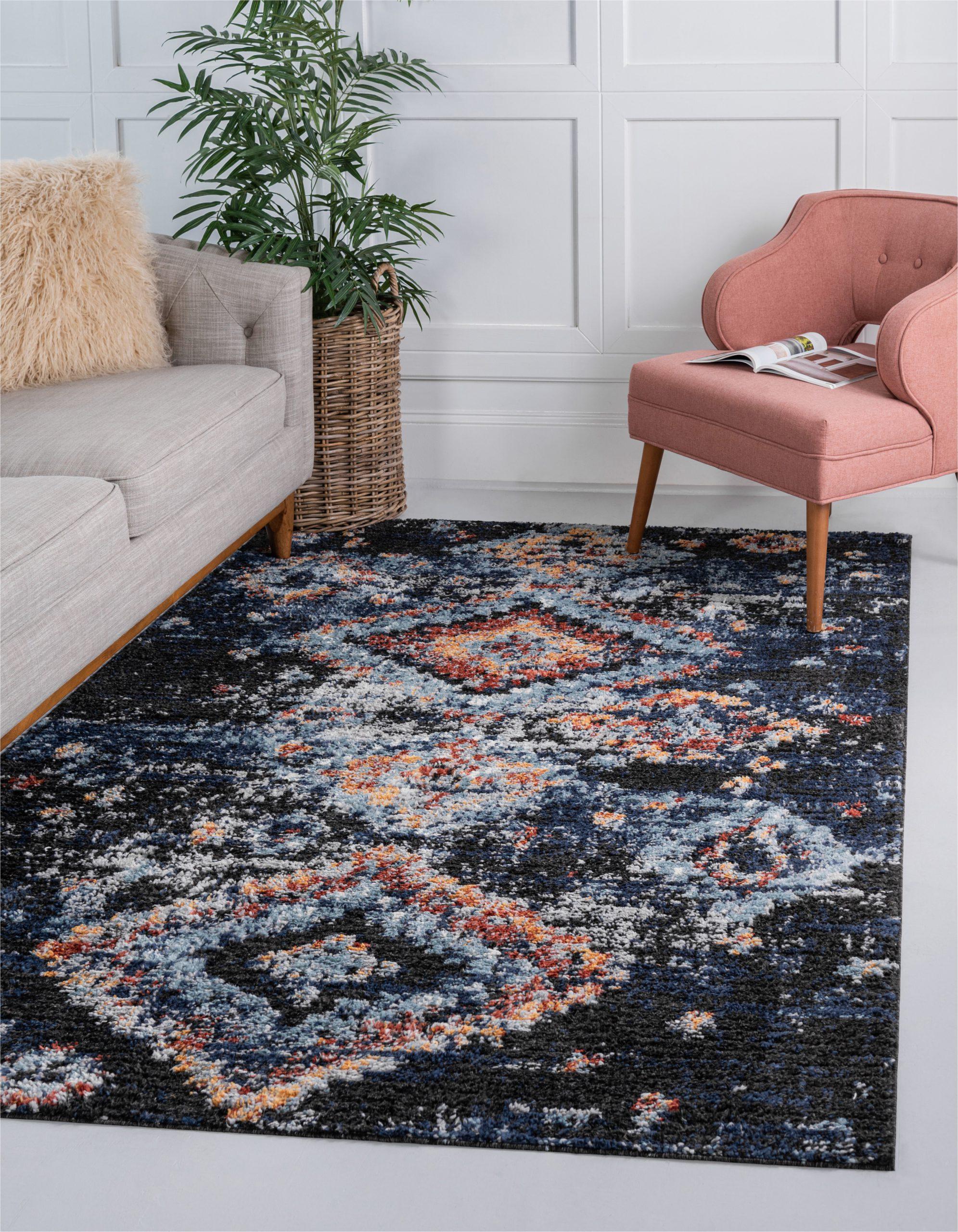 fenrir southwestern navy bluebrown area rug