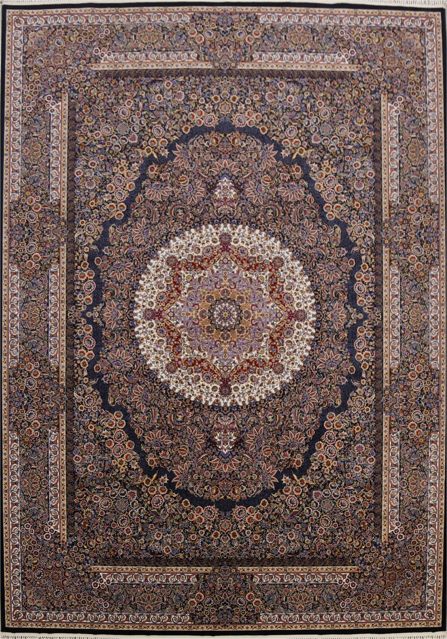 lassen oriental navy bluebrown area rug