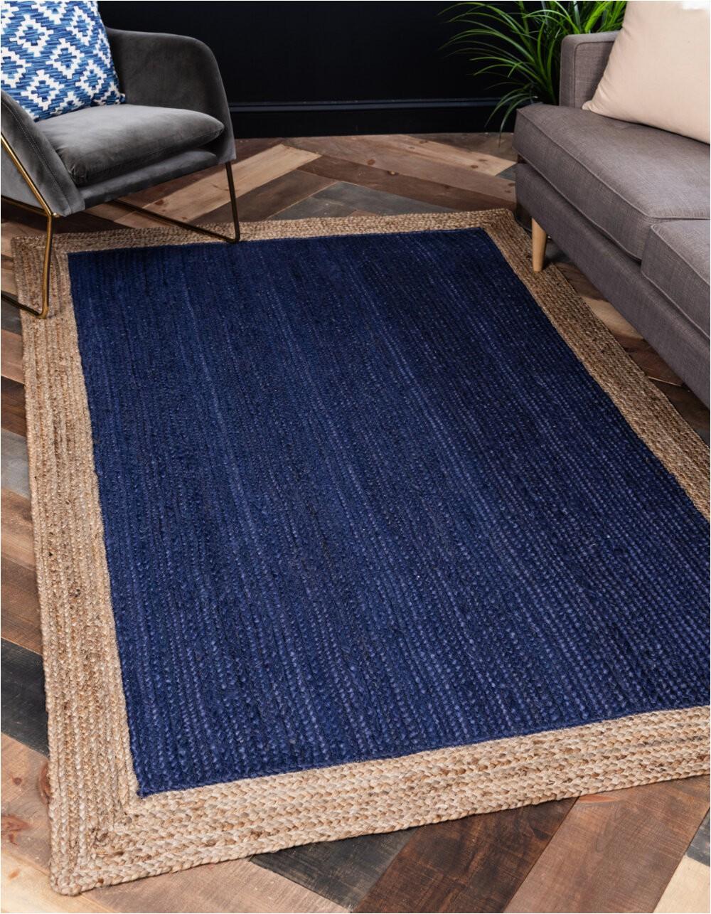 niagara hand braided navy bluebrown area rug