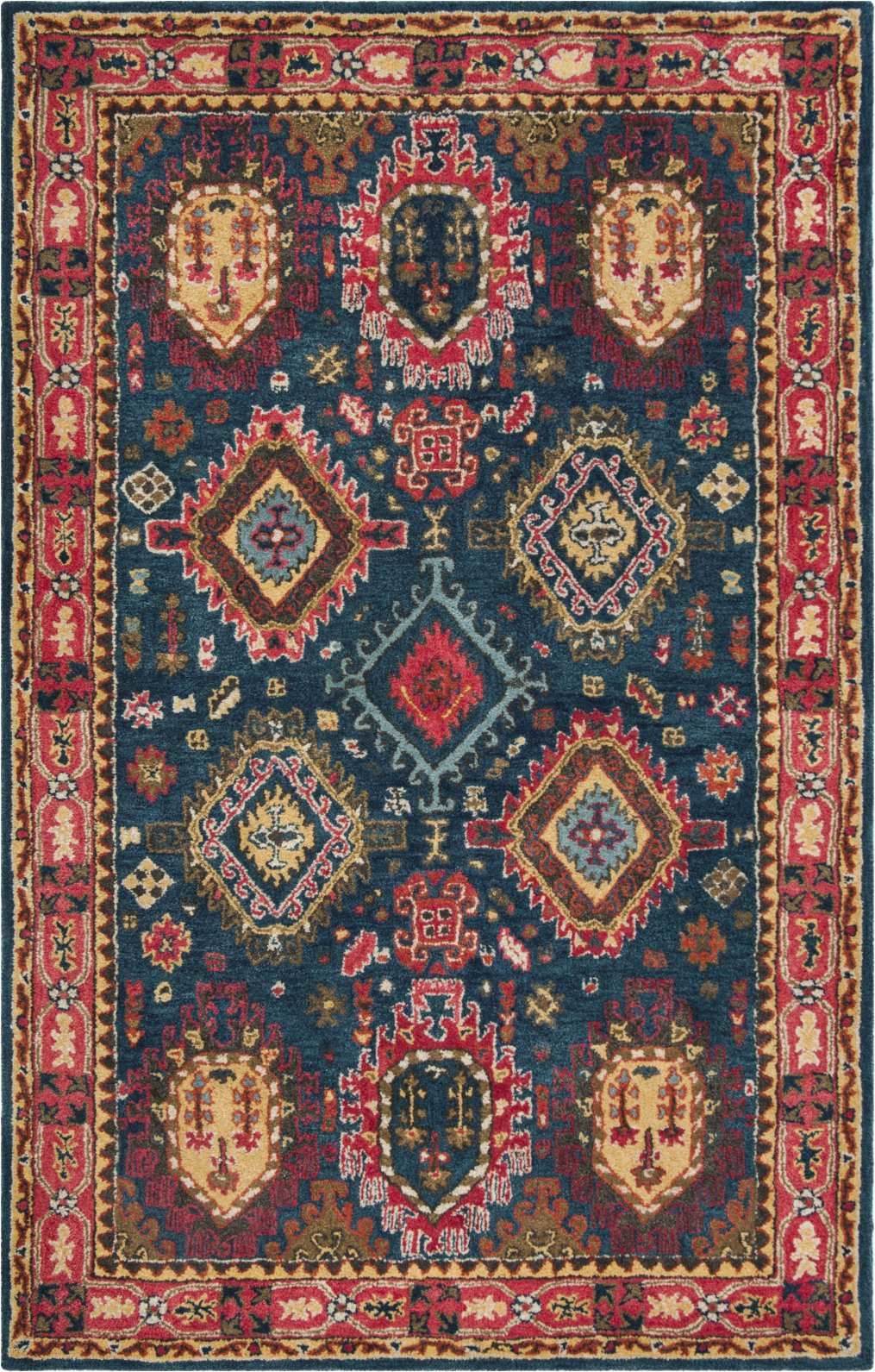safavieh heritage 426 navy red area rug