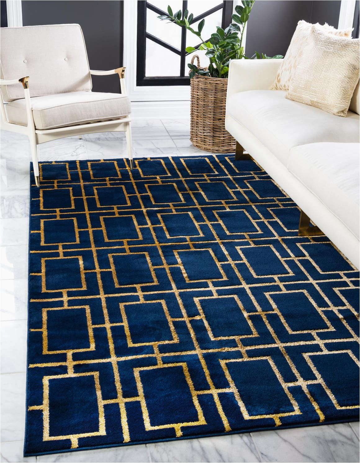 navy blue gold 4x6 marilyn monroe area rug