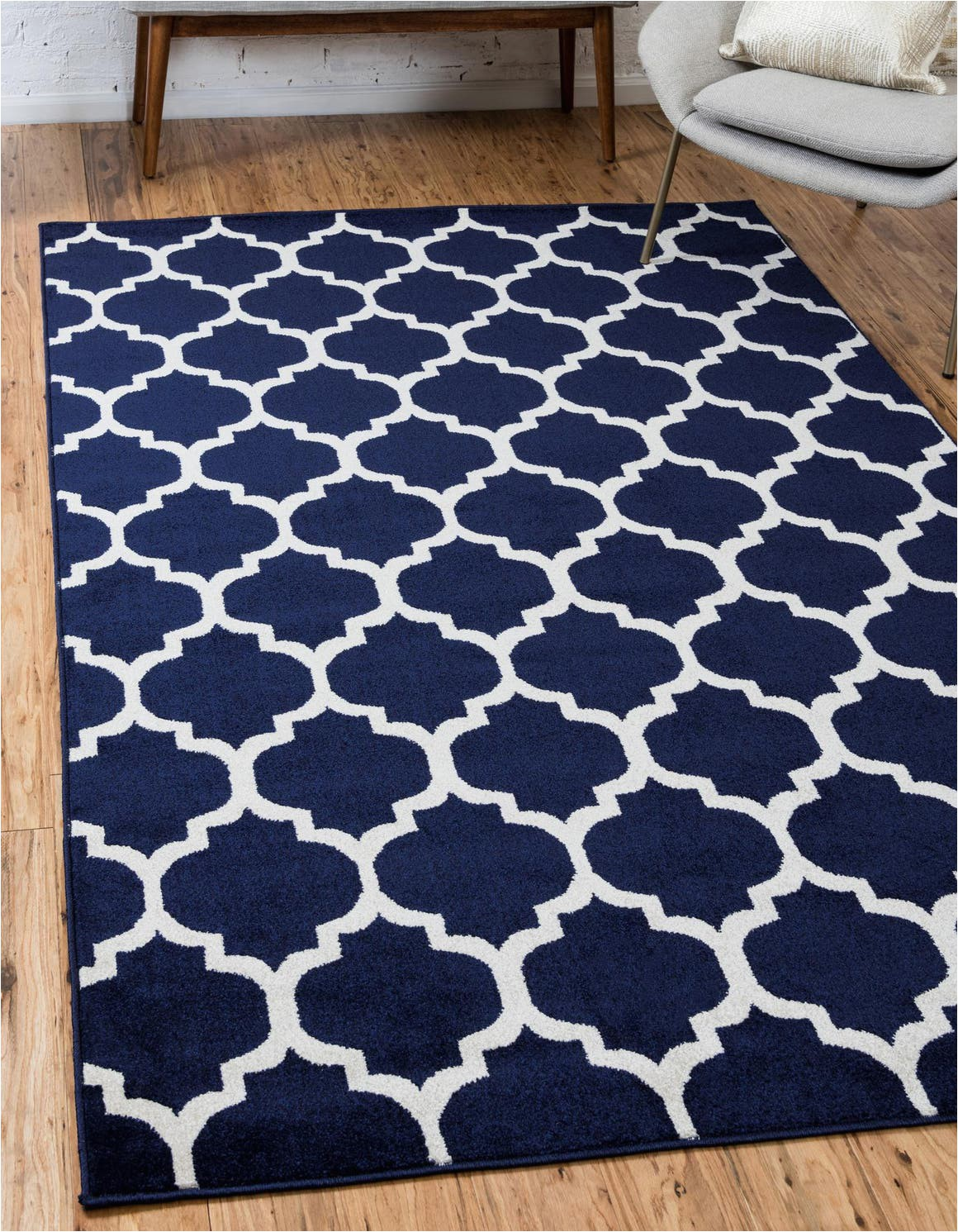 navy blue 12x16 trellis area rug