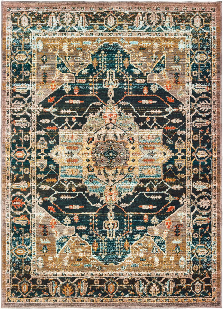 oriental weavers sedona 9592b blue gold area rugx