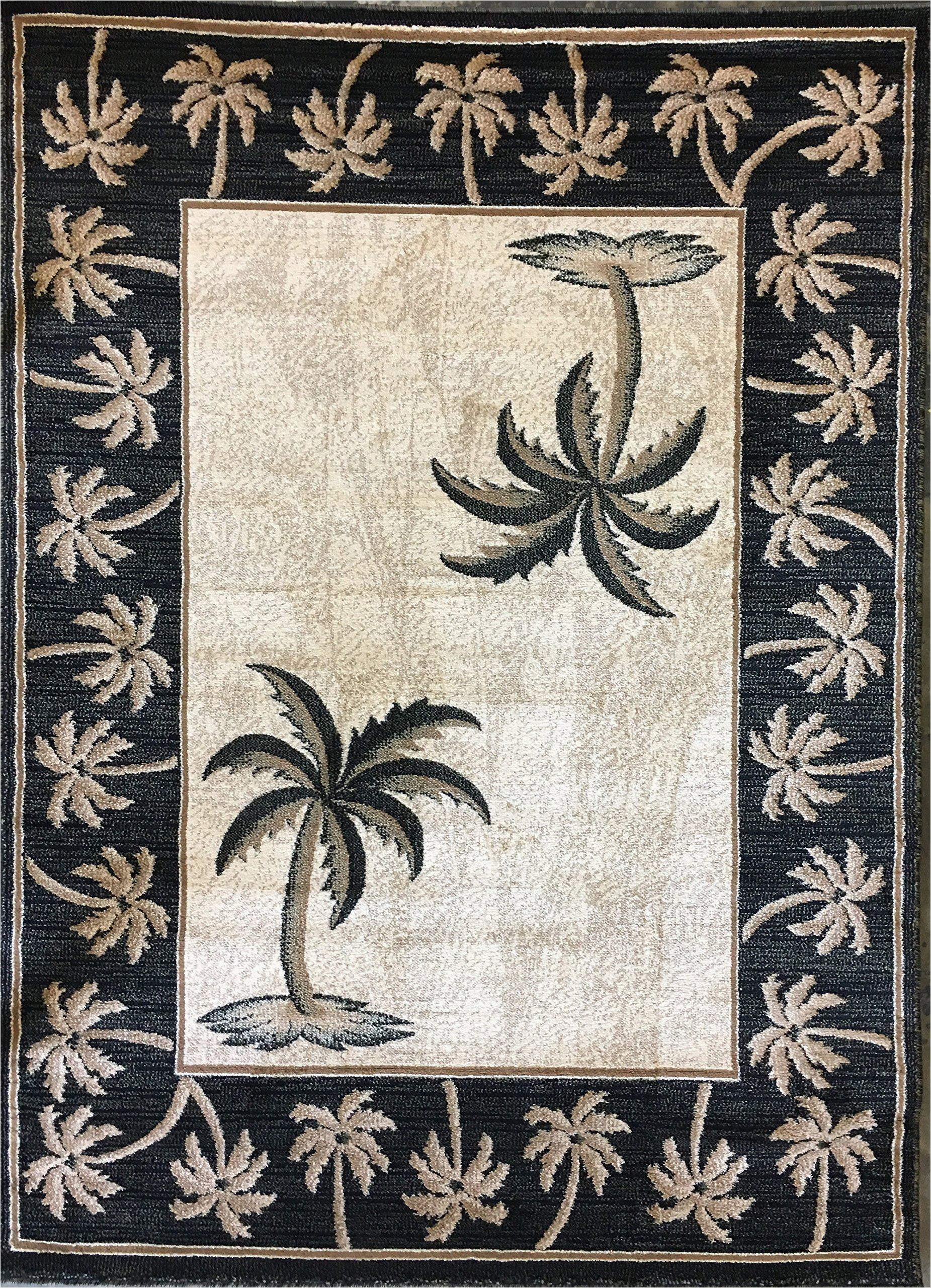 Palm Tree Design area Rugs Palm Tree Tropical 500 000 Point area Rug Black &green