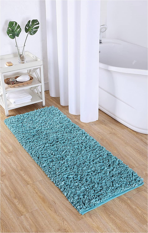 Paper Shag Bath Rug Vcny Home Paper Shag Bathroom Rug 24×60 Light Blue