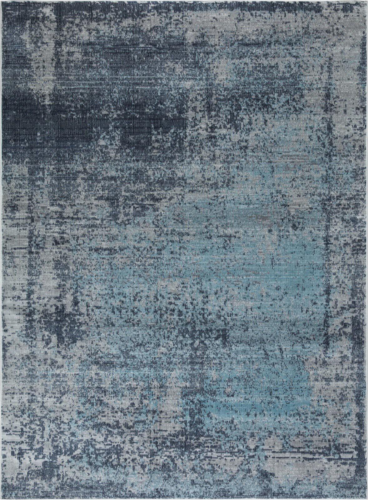 madeleine abstract design soft and plush grayblue area rug