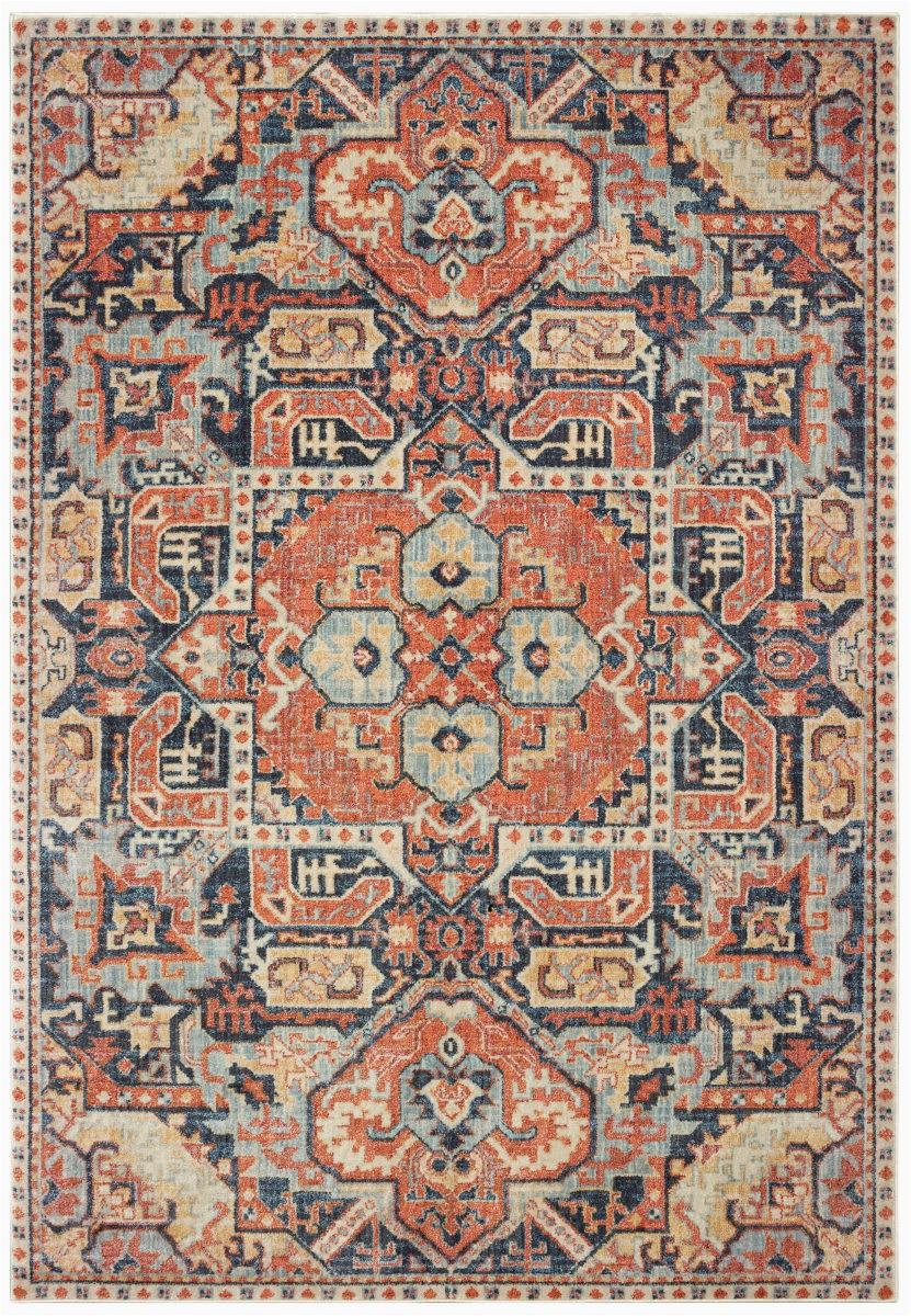 oriental weavers pandora 049s7 blue orange area rugx