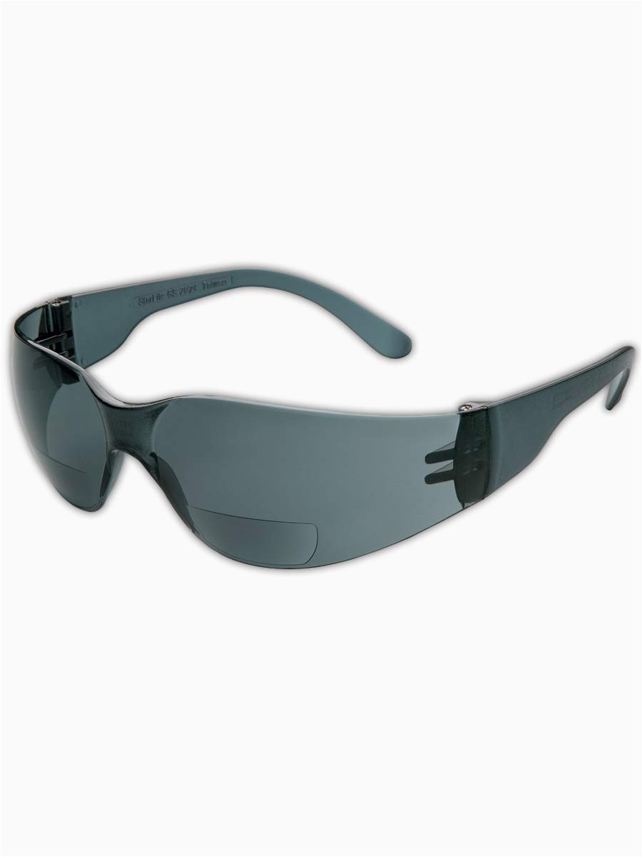 Rugged Blue Reader Safety Glasses Gateway Safety 46ma10 Starlite Mag Safety Glasses 1 0 Diopter Magnification Clear Anti Fog Lens Clear Temple