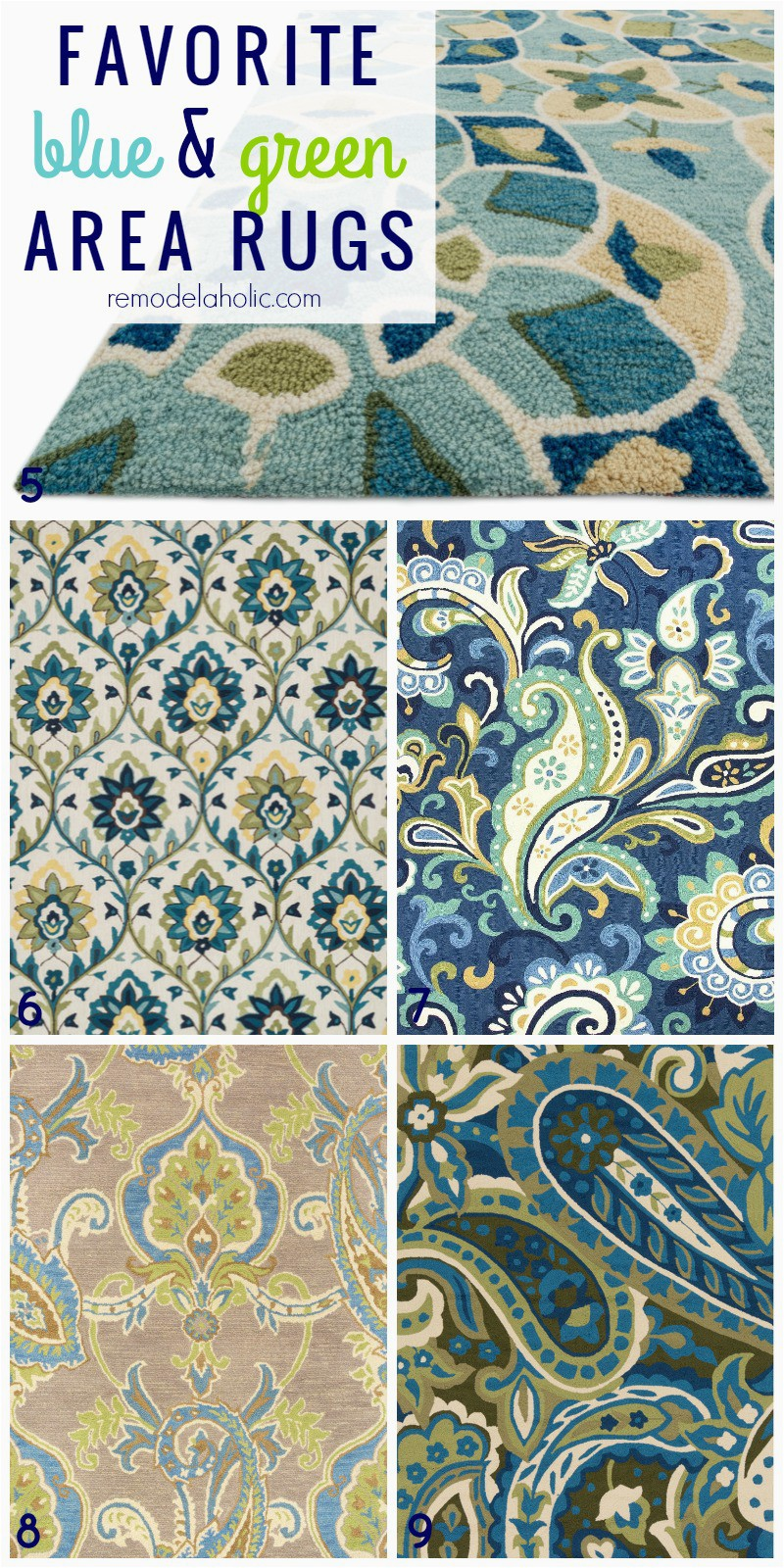 Favorite rugs blue and green 5 9