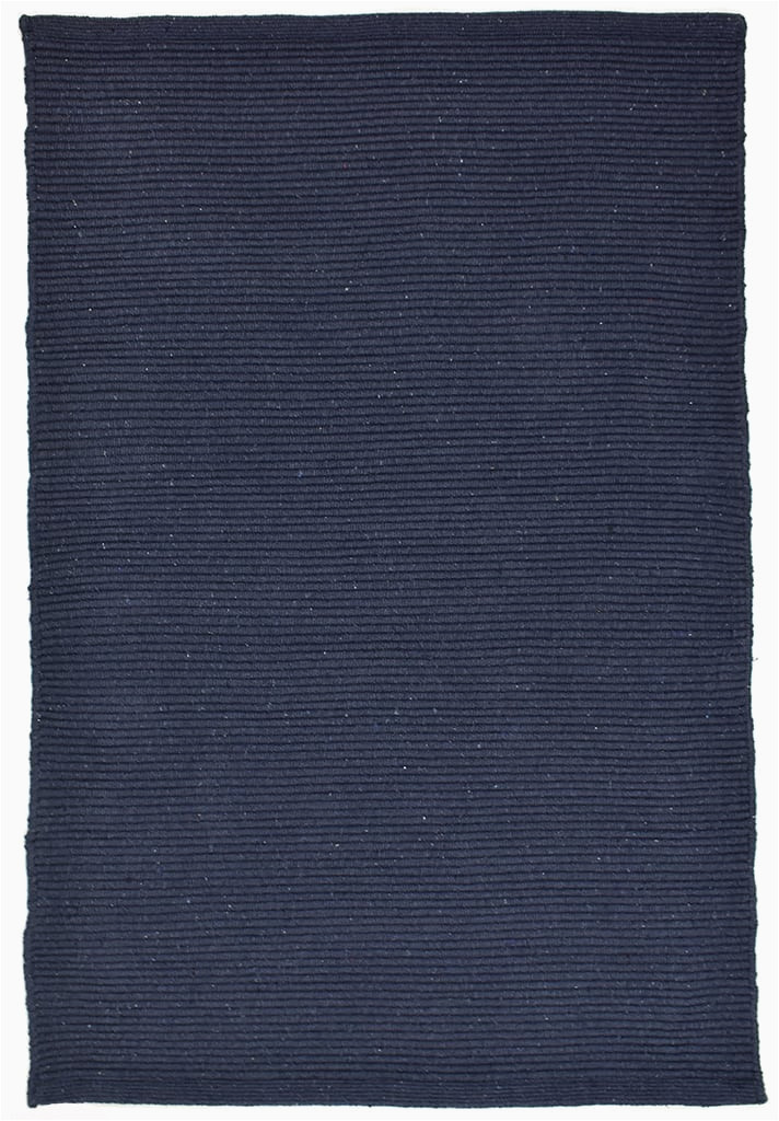 Solid Navy Blue Rug solid Navy Blue Flatweave Eco Cotton Rug Hook Loom