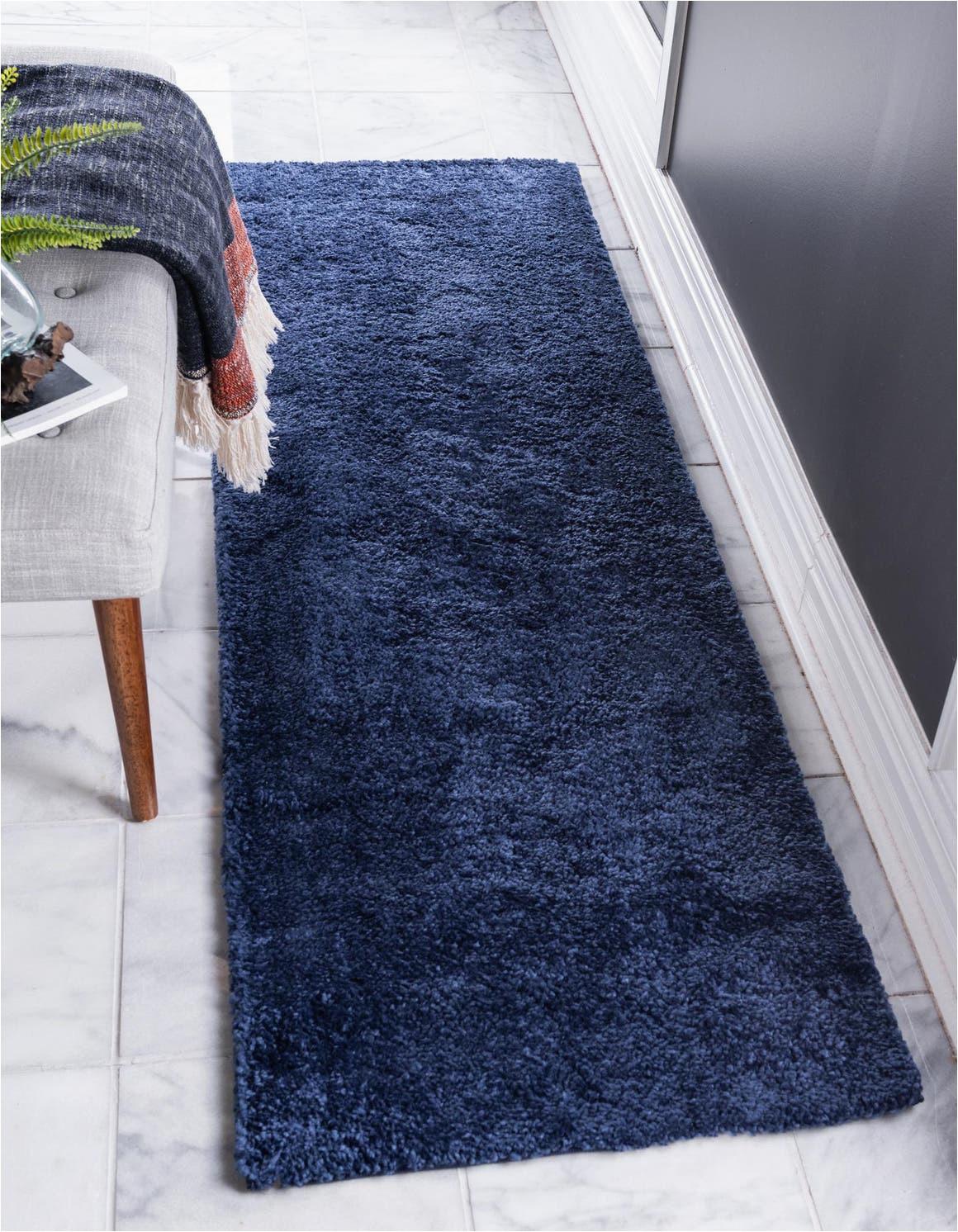 navy blue 6 ft runner solid frieze area rug