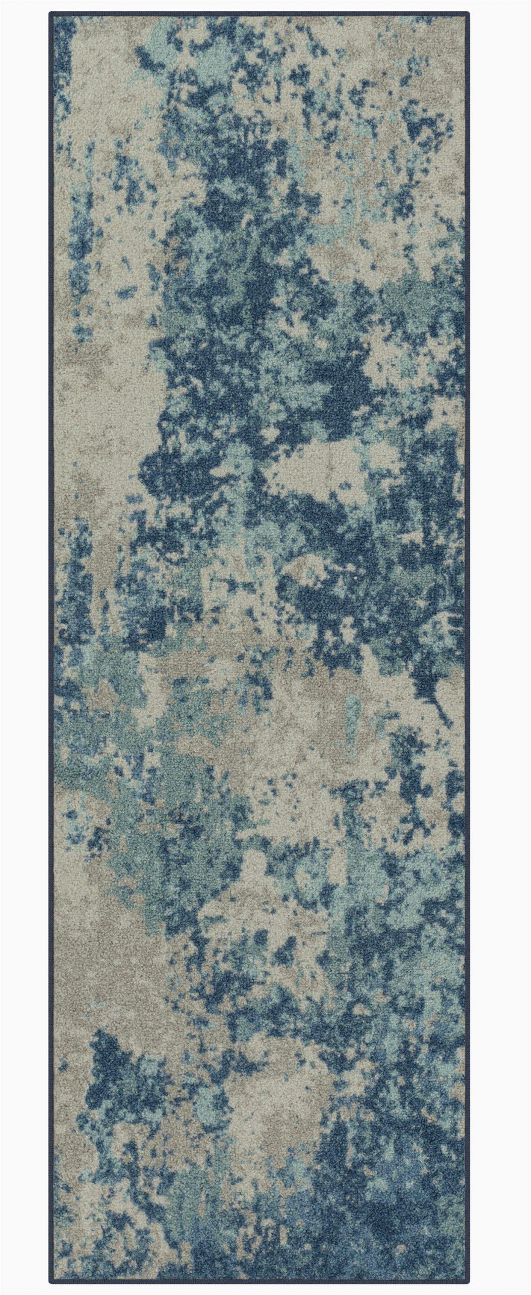 cuvier southwestern tufted blue area rug