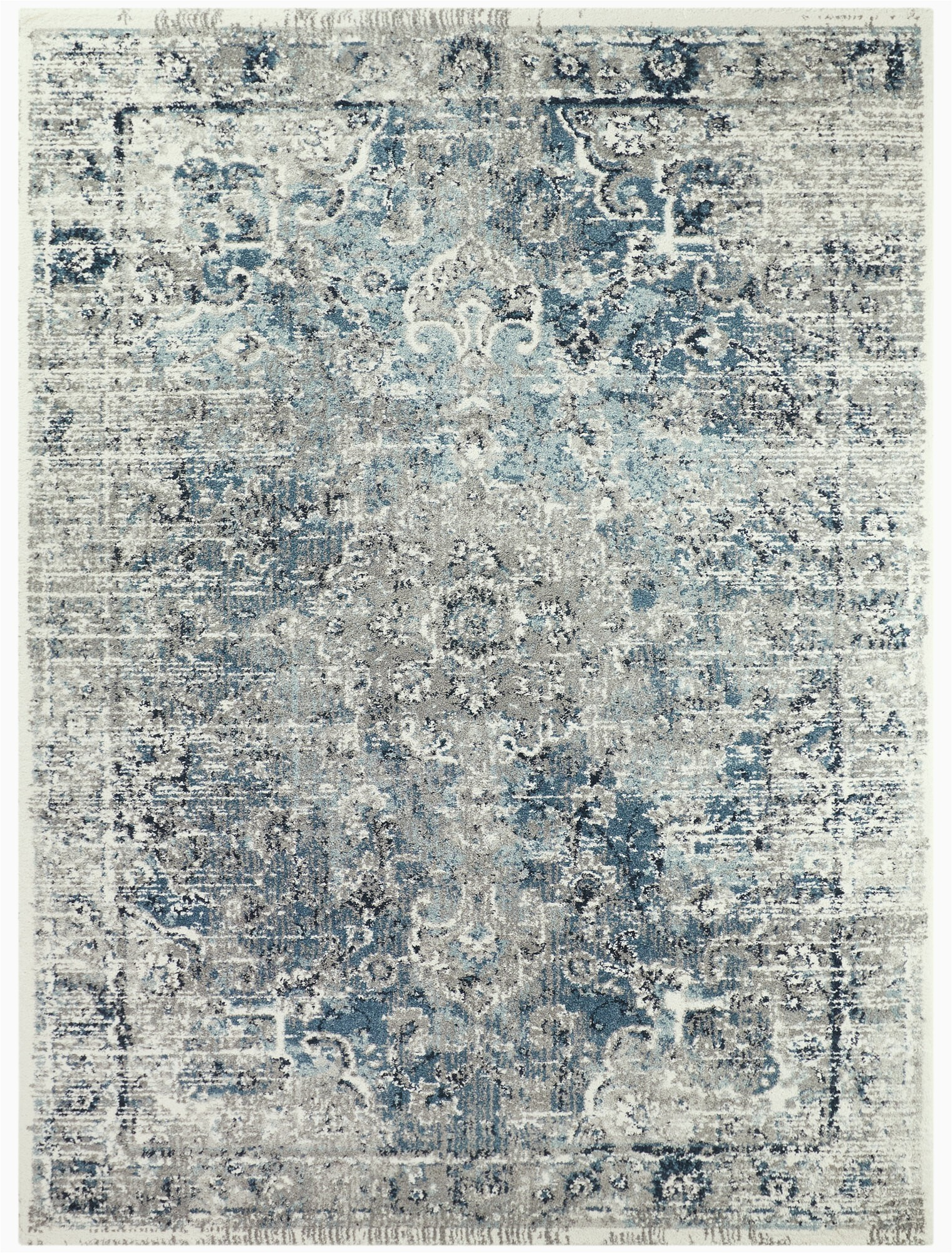 santillan oriental taupeblue area rug