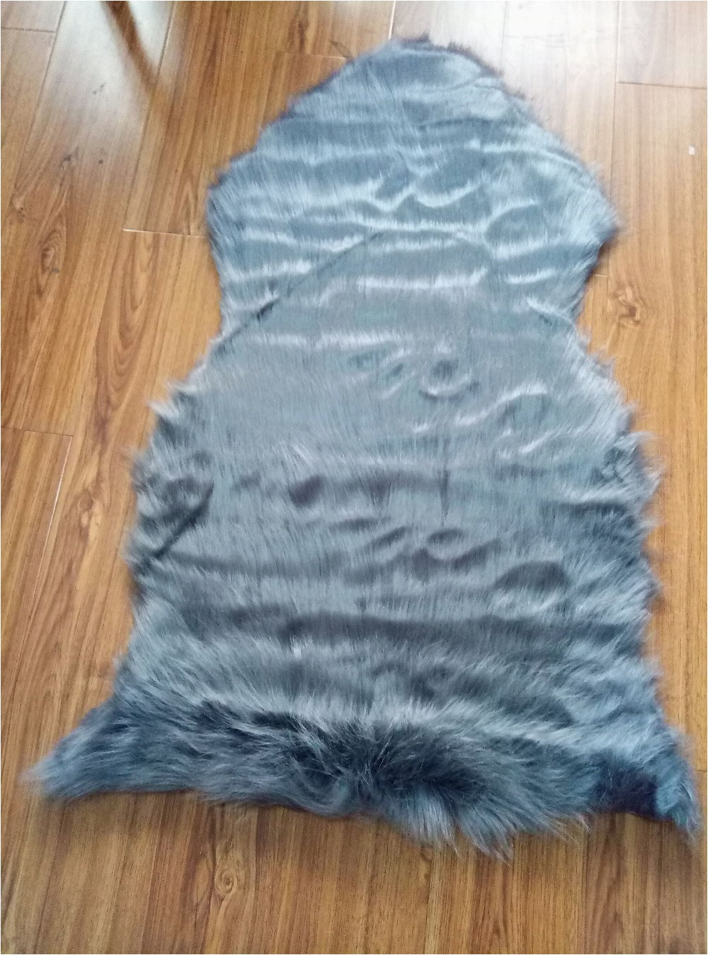 Gray 9CM Thickness Area Rugs for Bedroom Faux Carpet Mat Faux Sheepskin Chair Cover Pad Soft