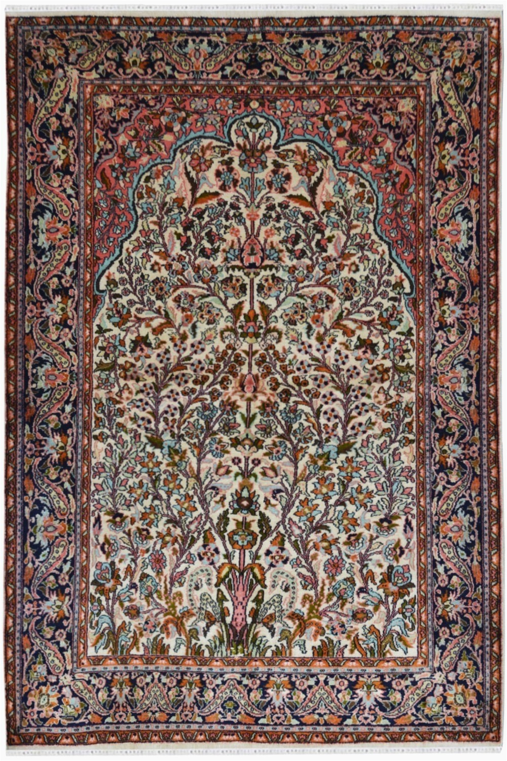 tree of life kashmir silk front rugs and beyond
