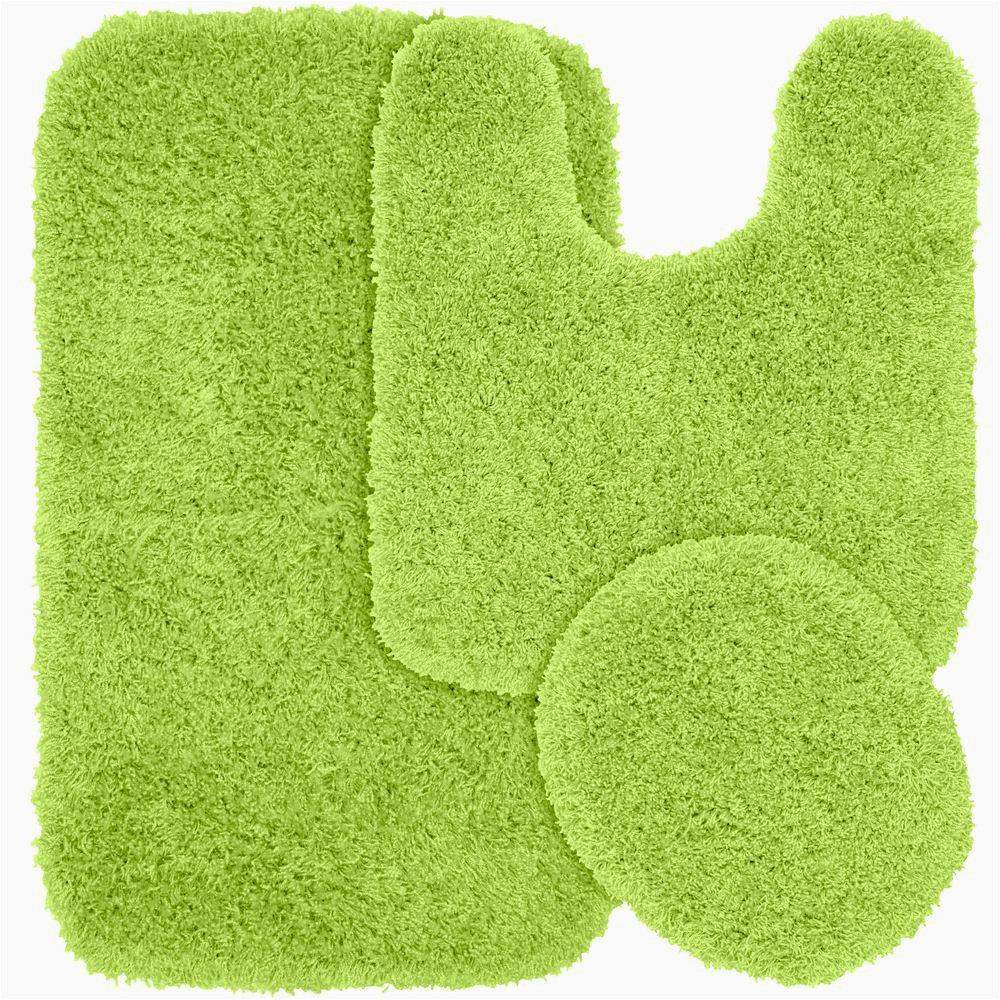Bright Green Bath Rugs Garland Rug Jazz Lime Green 21 In X 34 In Washable
