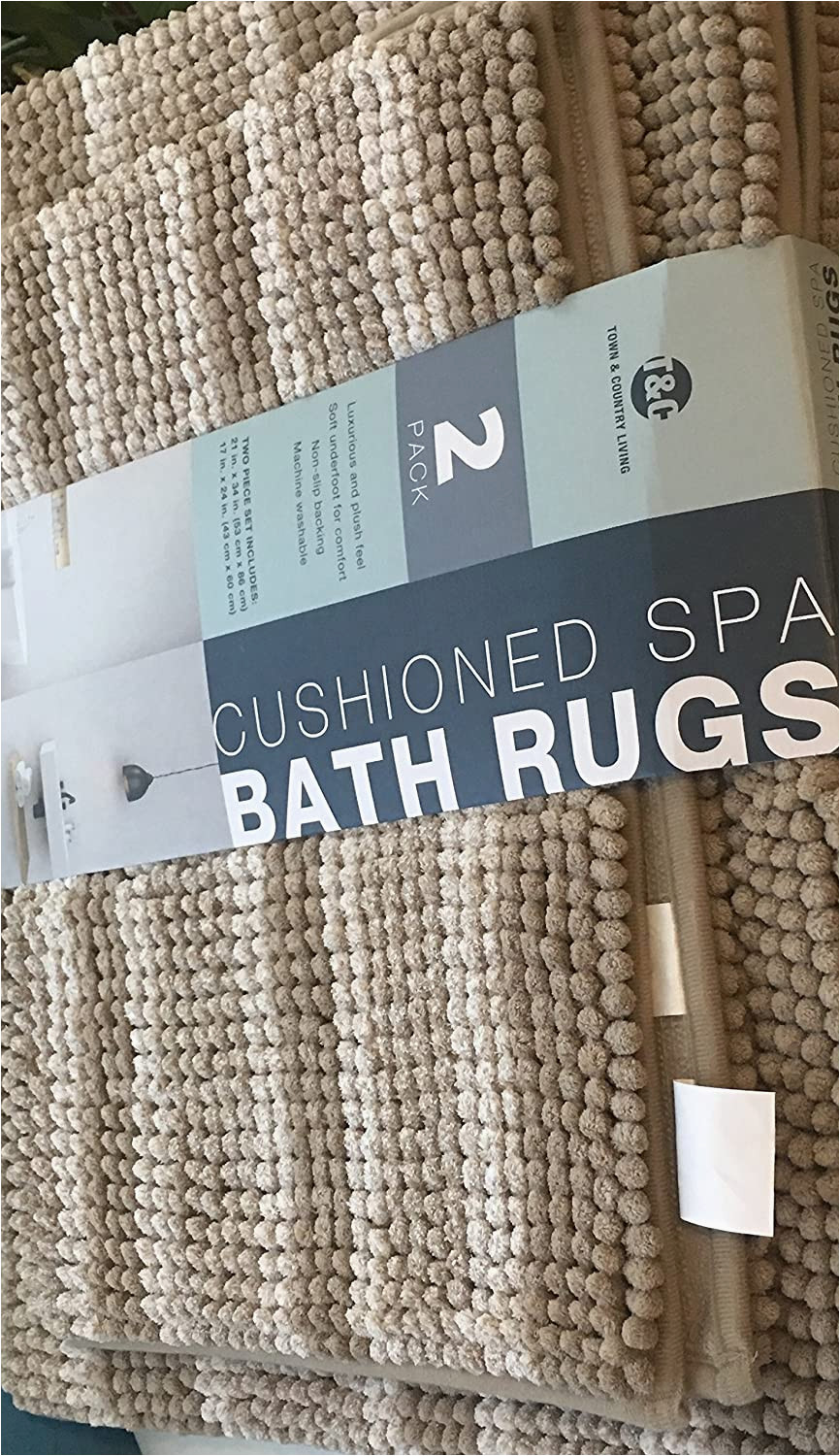 Town and Country Living Cushioned Spa Bath Rugs town Country Living Cushioned Spa Bath Rugs Brown
