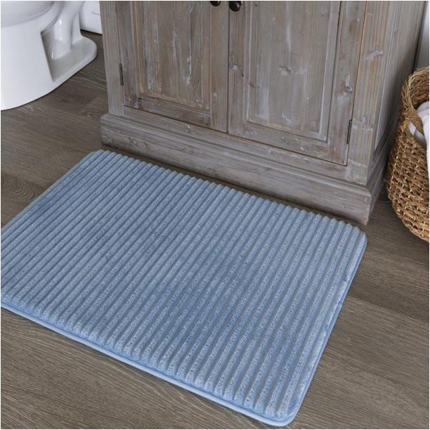 Walmart Memory Foam Bath Rugs Mainstays Quick Dry Memory Foam Bath Rug Blue Linen 17