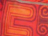 1 Inch Pile area Rugs Mid Century Bright Red toned One Inch Pile Shag area Rug