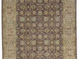 """10 by 11 area Rug E Of A Kind Hand Knotted Brown Gold 8 10"""" X 11 11"""" Wool area Rug"""