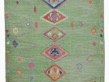 """10 by 11 area Rug Green New Turkish Tulu area Rug 7 10"""" X 11 11"""" 94 In X 143 In"""