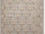 10 Foot Square area Rug 8 X 10 William Morris Handmade Wool oriental area Rug 8×10 Gray