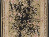 10 Foot Square area Rug Due Process Stable Trading Aubusson Marseilles Black Square