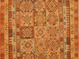 """10 Foot Square area Rug Kilim Red Square Flat Woven 6 10"""" X 8 4"""" area Rug 100"""
