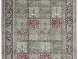 """10 X 11 area Rug E Of A Kind Mountain King Hand Knotted Red Black 8 10"""" X 11 11"""" Wool area Rug"""
