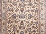 """10 X 15 area Rug Cheap Kashan Blue Hand Knotted 10 9"""" X 15 0"""" area Rug 254"""