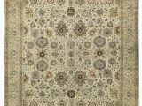 """10 X 18 area Rug E Of A Kind Moghal Royal Hand Knotted Beige 11 10"""" X 18 3"""" Wool area Rug"""