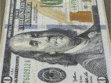 100 Dollar Bill area Rug E Hundred Dollar $100 Bill Print New Benjamin Non Slip