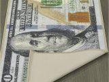 100 Dollar Bill area Rug Ottomanson New Rugs E Hundred Dollar $100 Bill Print New Benjamin Non Slip area Rug Runner 22 X 53 Multi Color