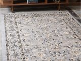 10×12 area Rugs Home Depot Unique Loom Kashan Collection Traditional Floral Overall Pattern with Border Gray area Rug 9 0 X 12 0